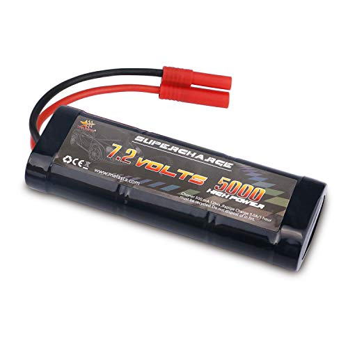 MELASTA 7.2V 5000mAh NiMH RC Battery Packs for Redcat Racing Vehicles with Banana Connector