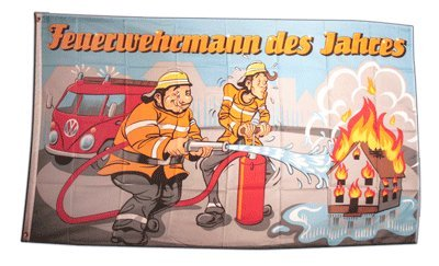 Flagge Feuerwehrmann des Jahres - 90 x 150 cm