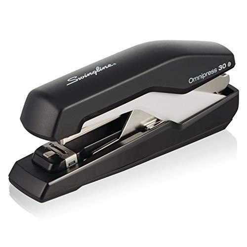 """Swingline Stapler, Omnipress 30 Stapler,""""Press Anywhere for Easier Use"""", 30 Sheet Capacity, Black/Gray (5000585A)"""