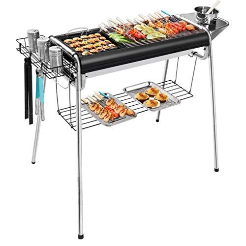 SSG Home Conception Portable Barbecue Accueil Cuisine Pique-Nique Pique-Nique qualité épais en Acier Inoxydable Barbecue au Charbon extérieur Utilisateur Pique-Nique Plateau Stable et Durable
