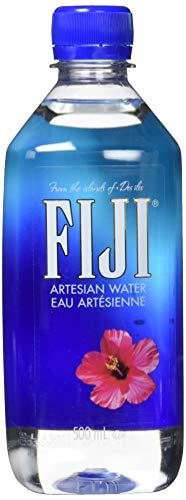 FIJI Water 500 ml, natürliches Quellwasser, 24er Pack (Einweg, 24 x 500 ml)