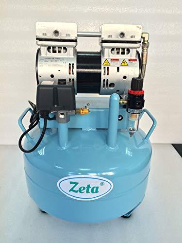 Compresor de aire Zeta, 8 bares, motor de inducción, depósito de 220 V, 30 l, potencia de aspiración 130 l/min de...