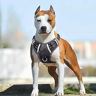 BABYLTRL Big Dog Harness No Pull Adjustable Pet Reflective Oxford Soft Vest for Large Dogs Easy Control Harness (XL, Black) from Babyltrl