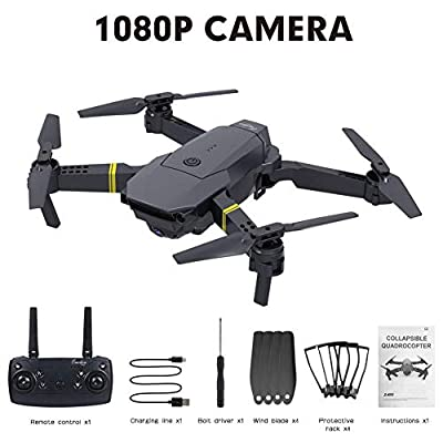 vogueyouth RC Foldable Four-axis Drone with Camera Live Video - 720P 1080P 4K WiFi FPV Quadcopter, One Key Takeoff/Landing Altitude Hold Drone