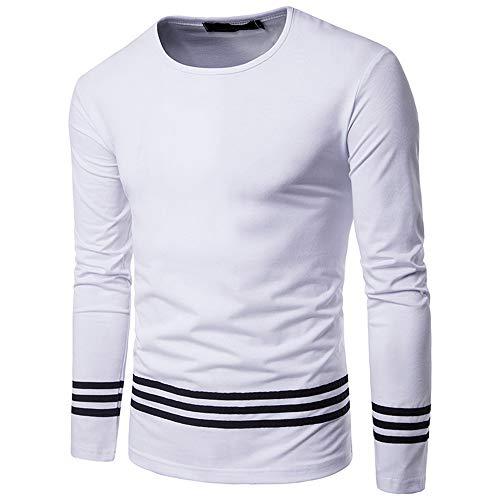 Generice - Sudadera para hombre (manga larga, cuello redondo) Blanco blanco XXL
