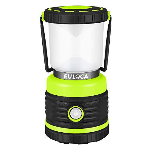 EULOCA Farol de Camping LED Regulable, 1200lm 4 Modos, Resistente al agua Linterna Camping, Lámpara para Pesca, Excursión, Jardín, Patio y hiking