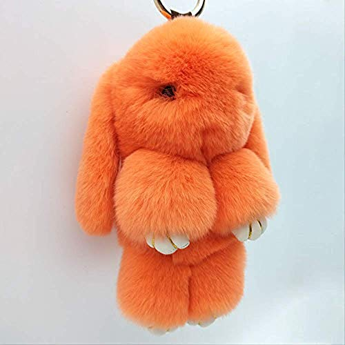 bisinisi The Cute Rabbit Backpack Pendant Plush Toy Keychain Decoration Small Toy 18cm Blue
