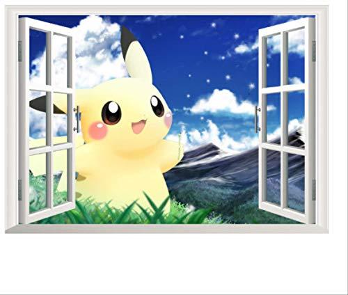 Wandaufkleber, Cartoon Pikachu Pet Elves Fenster Für Kinderzimmer Wandkunst Aufkleber Dekor Pokemon Go Spiel Poster
