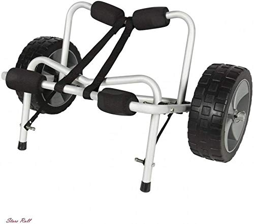 Kayak Trailer Dolly Canoe Carrier Trolley Cart Wheels Aluminum PU Foam Boat