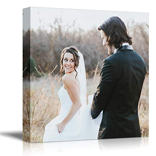 """Price comparison product image SIGNFORD 24""""x24"""" Custom Canvas Prints,  Travel Personalized Poster Wall Art with Your Photos Wood Frame"""