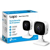 TP-LINK Tapo Mini Smart Security Camera, Indoor CCTV, Works with Alexa&Google Home, No Hub Required, 1080p, 2-Way Audio, Night Vision, SD Storage, Device Sharing (TC60)