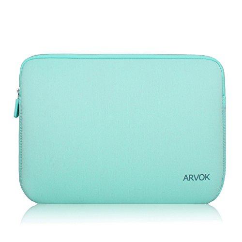 Arvok 17 Pulgadas Funda Protectora para Portátiles/Impermeable Ordenador Portátil Caso/Neopreno del Portátil Bolsa para Acer/ASUS/DELL/Fujitsu/Lenovo/HP/Samsung/Sony (Verde Claro)