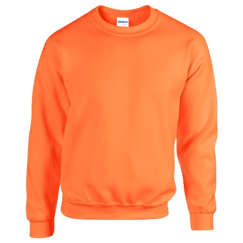 Gildan Herren Sweatshirt, Safety Orange, L