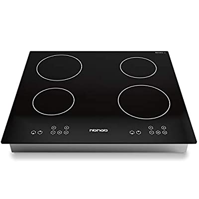 Induction Cooktop 24 Inch Induction Cooktop, Stove Top Electric Cooktop, 4-Burner Electric Induction, Black Vitro Ceramic Smooth Surface Glass Gasland Chef, 220V Electric Induction Cooker, Timer & Safety Lock.