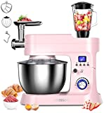 AILESSOM8-IN-1ElectricStandMixer, 800W10-SpeedWithLCDTimer,...