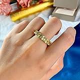 Anillo de Compromiso de Piedras Preciosas de Diamantes de Mo