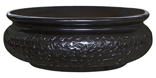 K&K Keramik Watzmann Pot à bonsaï plat Marron foncé mat Taille XL 50 x 18 cm