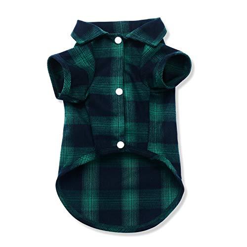 Koneseve犬のシャツ犬の服春夏冬、ペット服用格子縞のポロシャツTシャツ、小型犬用のセーター底シャツ、犬...