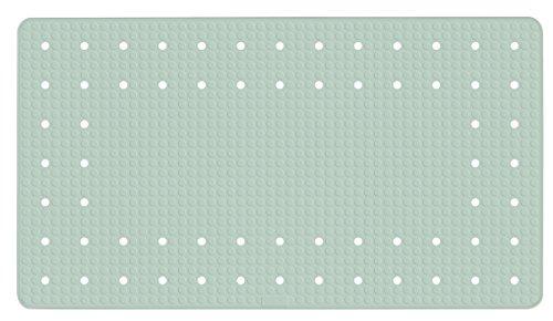 WENKO Wanneneinlage Mirasol Mint - Antirutsch-Badewannenmatte mit Saugnäpfen, Naturkautschuk, 39 x 69 cm, Minzgrün
