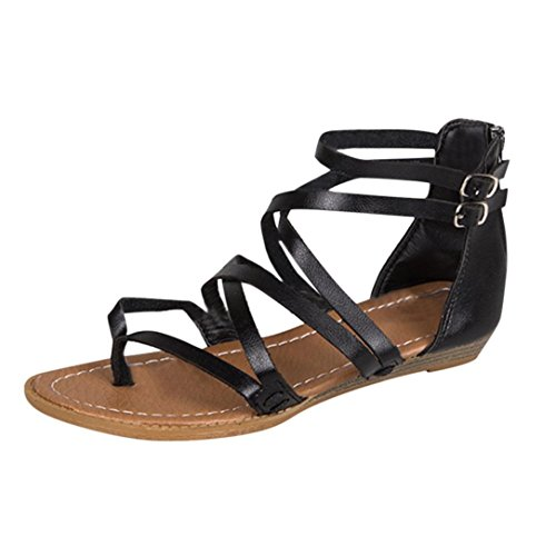 Best Bargain InKach Womens Flip-Flops Sandals ?? Fashion Cross Strap Summer Thong Sandals Back Zippe...