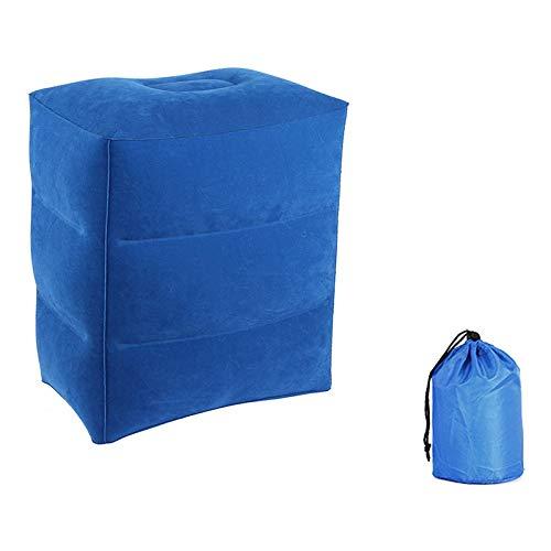 Aufblasbare Fußstütze - Aufblasbares Reisekissen, Fuß/Beinauflage Kissen, für Kinderbett Luft Fußkissen (Color : Blue)