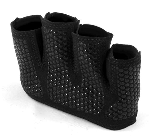 Fit Four The Gripper Glove Callus Guard Fitness Gloves for WODs, Weightlifting & Cross Training Athletes - Enhanced Silicone Grip Palm (Black, Medium)