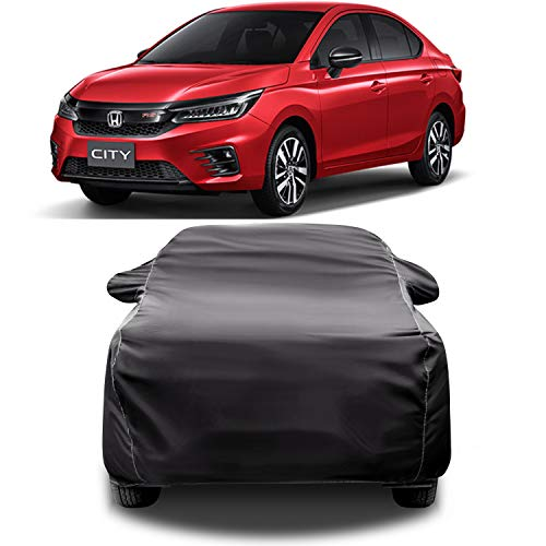 CREEPERS Water Resistant Car Cover for Honda City 2020(Gray with Mirror Pocket)