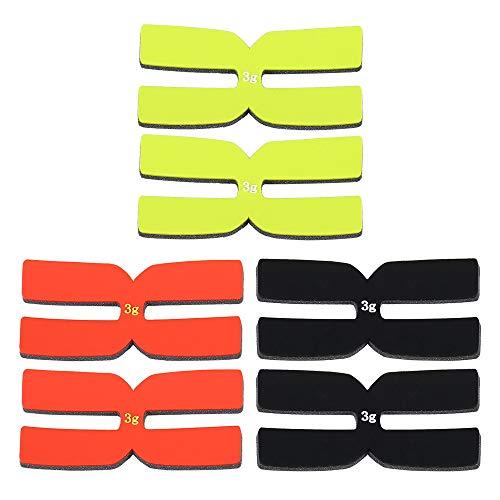 Lepeuxi 6 Stücke 3g Tennisschläger Gewicht Balance Streifen Silikon Tennisschläger Tapes