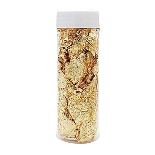 Moye Lámina Decorativa Oro Plata Grado Comestible Hoja de Oro Genuino Schabin Flakes 2g 24k Platos Chef Art Herramientas de decoración de Pasteles