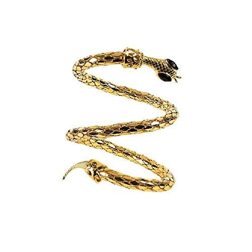 shoperama Armreif Schlange Gold Kostüm-Zubehör für Ägypterin Kleopatra Schmuck Pharaonin Armband