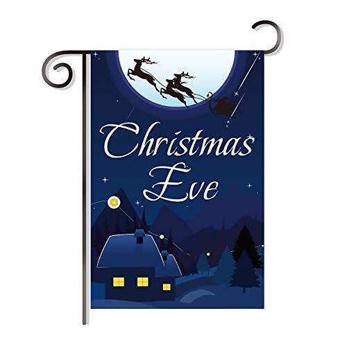 Cestor Weihnachten Santa Schneemann Garten Flagge,17.7 x 11.8 Zoll Doppelseitige Weihnachtsfahne Banner für House Winter Garten Baum Outdoor Party Dekoration,Heiligabend