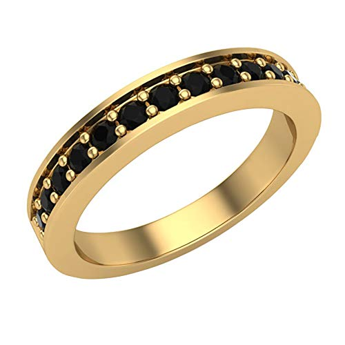 Glitz Design Mujer Niños Hombre Unisex oro 14 quilates (585) oro amarillo 14 quilates (585) round-shape Black Diamante negro
