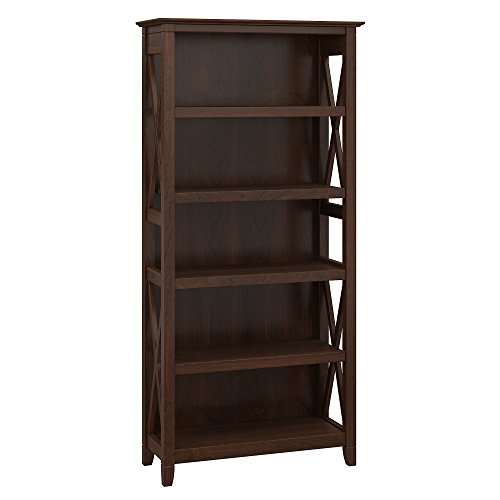 Bush Furniture Key West 5 Shelf Bookcase in Bing Cherry