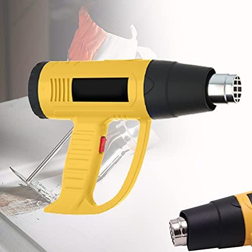 CSYHJRS Pistola de Calor Ajustables de Temperatura, Pistola de Aire Caliente 50℃- 650℃ Temperaturas Ajustable Decapadora Professional, para Raspar La Pintura, Deformar Tubos y Encoger PVC