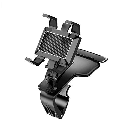Titular del teléfono del coche del tablero de instrumentos del sostenedor del soporte del GPS del teléfono montaje del coche del teléfono celular de la tableta Soporte para todos los teléfonos Negro