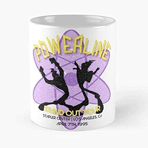 N\A Vintage Powerline Concert Logo - A Goofy Movie Classic Mug Taza de café de 11 oz Regalo de cumpleaños único Vacaciones.