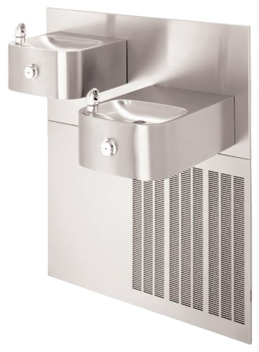 """Best Price! Haws H1119.8 Stainless Steel """"Hi-Lo"""" Barrier-Free Wall Mounted Dual Satin Finish Electric Water Cooler (Chiller and Mounting Frame Not Included)"""