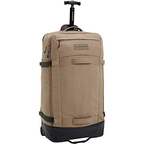 Burton Path Checked - Maleta con ruedas para hombre, Timber Wolf Ripstop (Multicolor) - ONESIZE