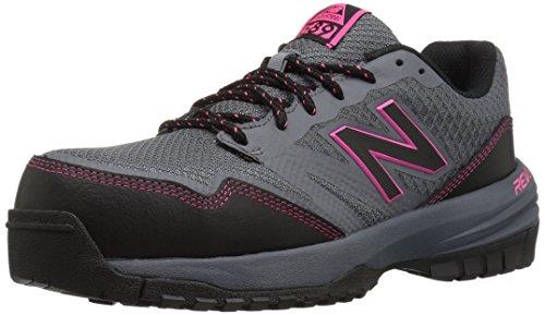 New Balance Women's Composite Toe 589 V1 Industrial Shoe, Grey/Pink, 9 W US