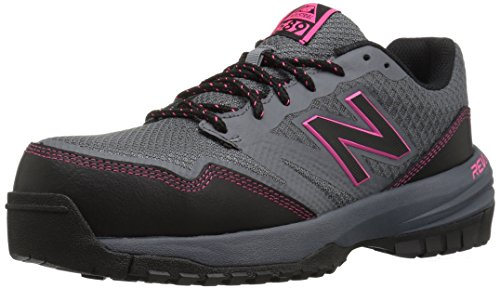 New Balance Women's Composite Toe 589 V1 Industrial Shoe, Grey/Pink, 9.5 M US