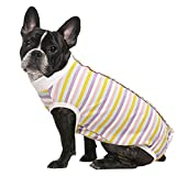 ASENKU Dog Recovery Suit for Abdominal Wounds, Female Male Dog Surgery Recovery Suit, Pet Bodysuit E-Collar Alternative After Surgery Wear Anti Licking Wounds(Candy,S