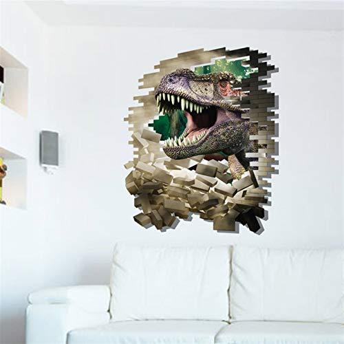 yanshan Moderno 3D Homenaje Infantil Niños DIY Pintura Decorativa Personalidad Parque Dinosaurio Estéreo Continental Decoración de la Pared Etiqueta engomada de la Pared (Size : 8002B)