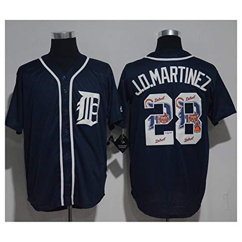 XJQ Jo.Martinez Herren Baseball-Jersey, 28# Team Jersey Feuchtigkeitsdose, licht- und atmungsaktiver Weißspieler-Jersey (S-XXXL) M