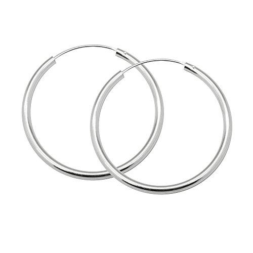SoulCats® Creolen aus 925 echt sterling Silber, Durchmesser: 25 mm