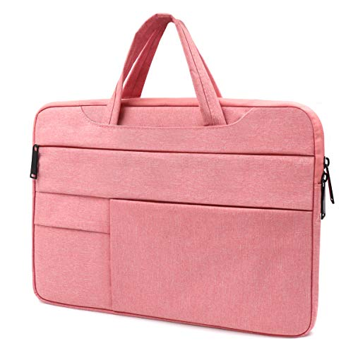 Lesige 13 inch Protective Laptop Sleeve Case, Slim Briefcase Handle Bag with 6 Extra Pockets for 13.3 inch MacBook Pro, MacBook Air, HP/Samsung/Asus/Dell/Acer/Chromebook/Notebook/Ultrabook, Pink