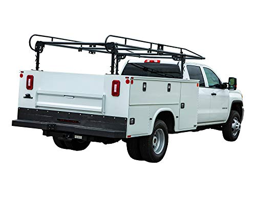 Buyers Products 1501250 Black Steel Service Body Ladder Rack, 13-1/2 ft.
