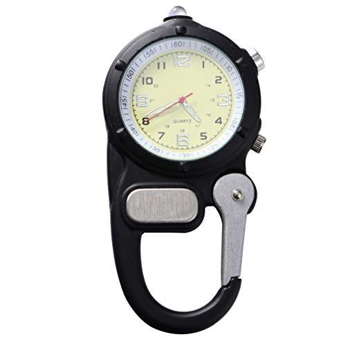 Relógio portátil de montanhismo BESPORTBLE, relógio de LED para mochileiro, relógio de bolso para acampamento, para Natal, atividades ao ar livre, caminhadas, suprimentos