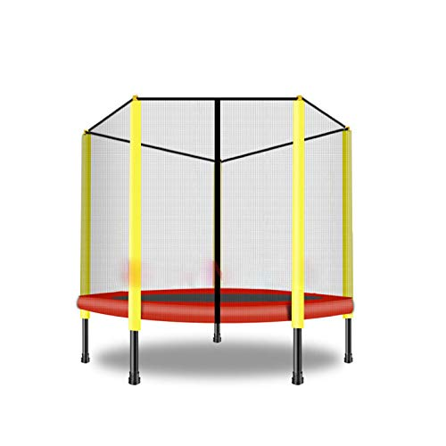 HOTDESIRE 3 FT Kids Trampoline Combo Bounce Jump Outdoor Trampoline for Family School Entertainment With/Safety Enclosure Net Spring Pad Ladder