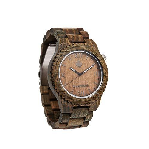 Wootch Sandal | Orologio da uomo | Ufficiale WoodWatch | Realizzato a mano | Movimento al quarzo giapponese | Orologio resistente e antispruzzo con elegante cassa in legno