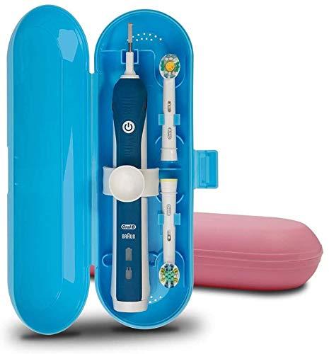 Estuche de viaje para cepillo de dientes eléctrico Oral-B Pro Series, 2 paquetes (azul y rosa)
